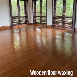 Wooden floors waxing service